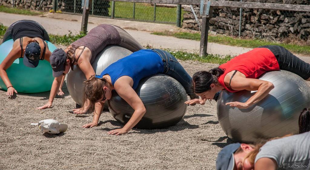 Starker Rücken durch Sitzballgymnastik