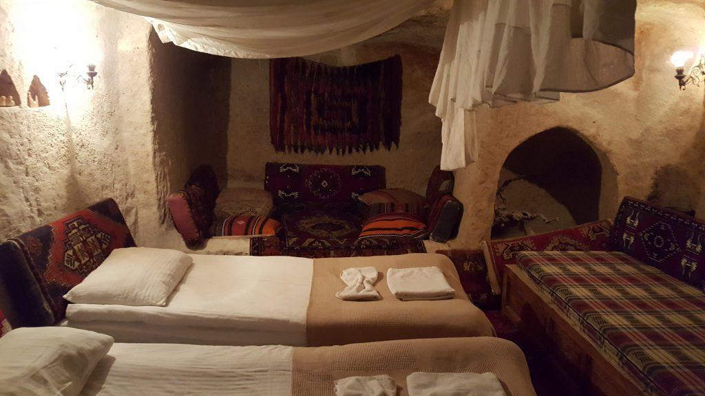"""Unsere erste Unterkunft in Kappadokien - ein typisches """"Cave-Hotel""""."""