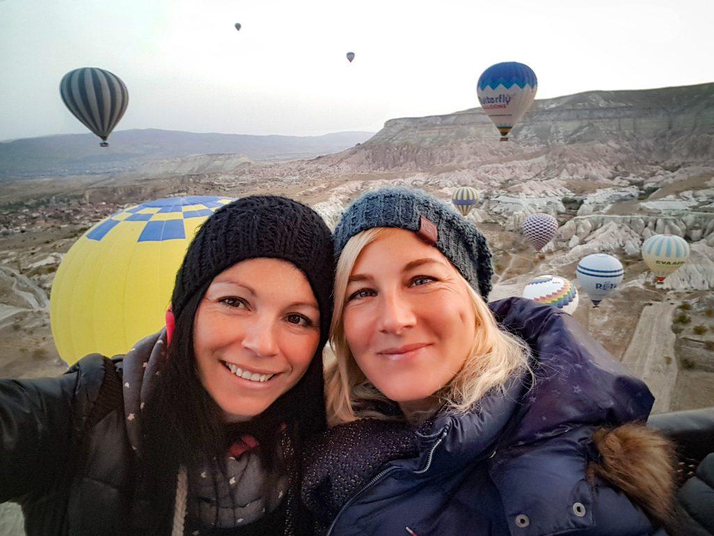 Einfach nur glücklich - Alex und ich bei der Ballonfahrt.