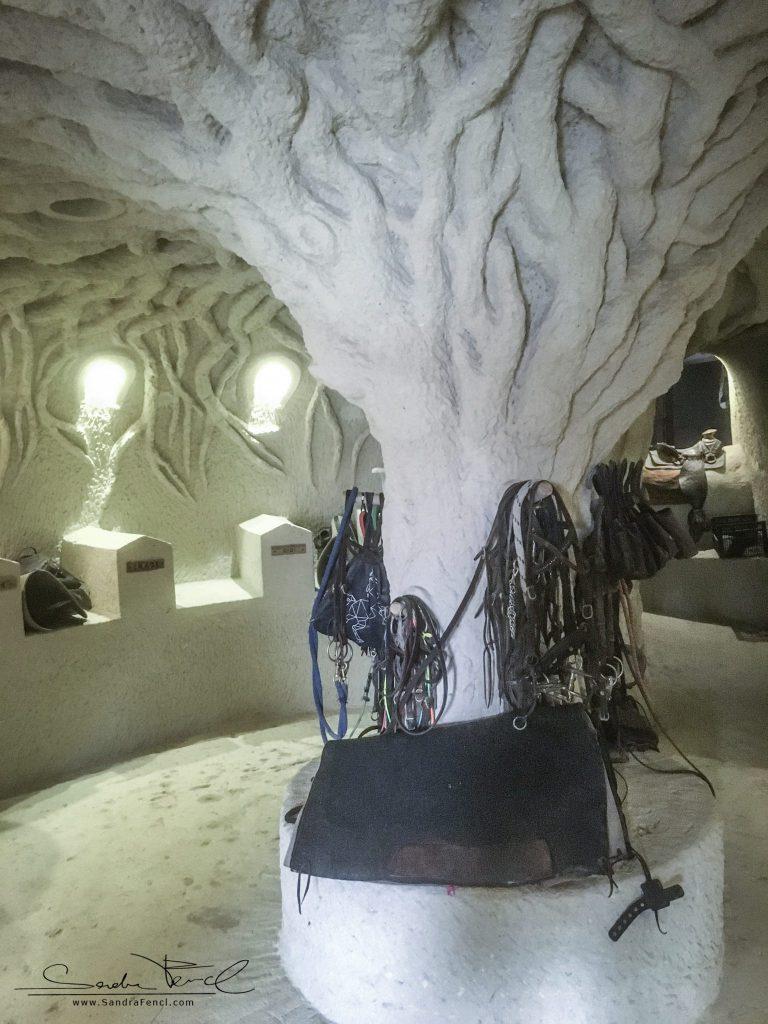 Die extravagante Sattelkammer der Kapadokya Ranch. Spätestens hier merkt man: Niko ist ein toller Handwerker und echter Künstler!