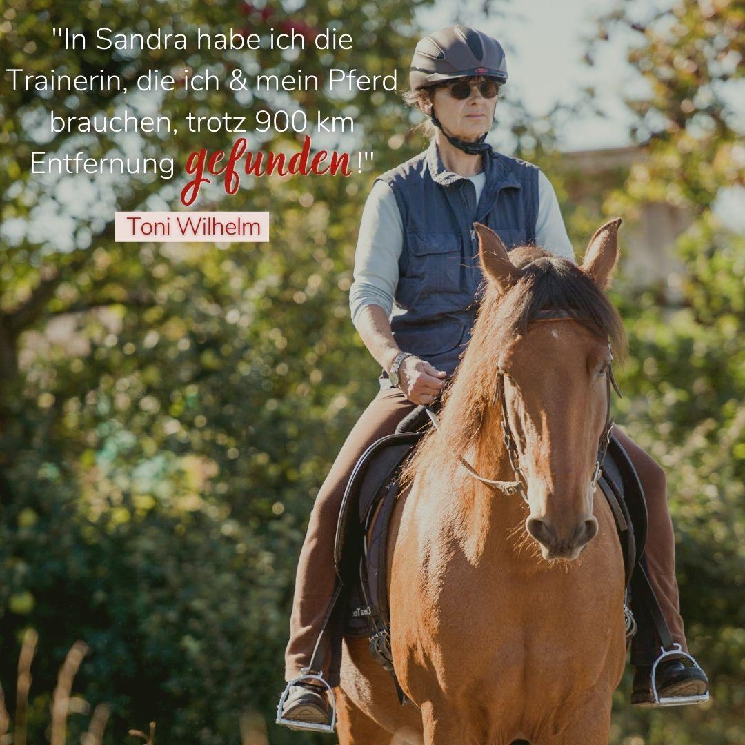 Feedback Pferdetrainerin Sandra Fencl