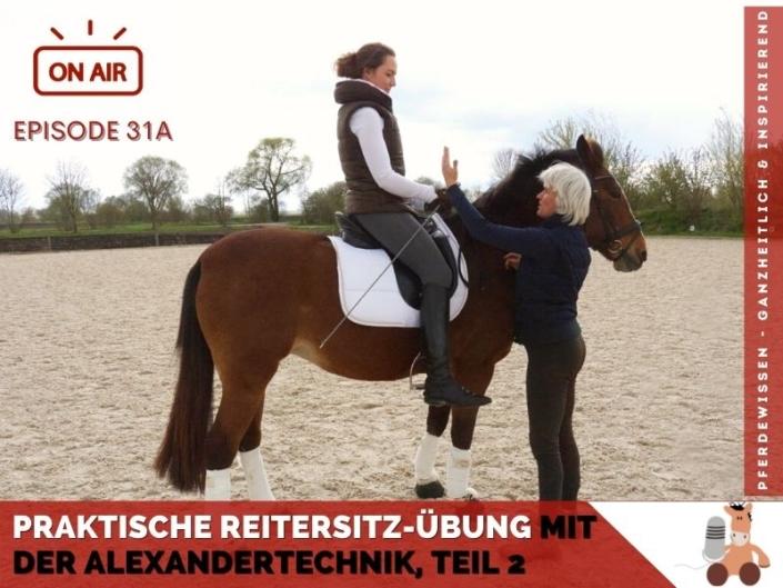 Reitersitzübung mit der Alexandertechnik für Reiter